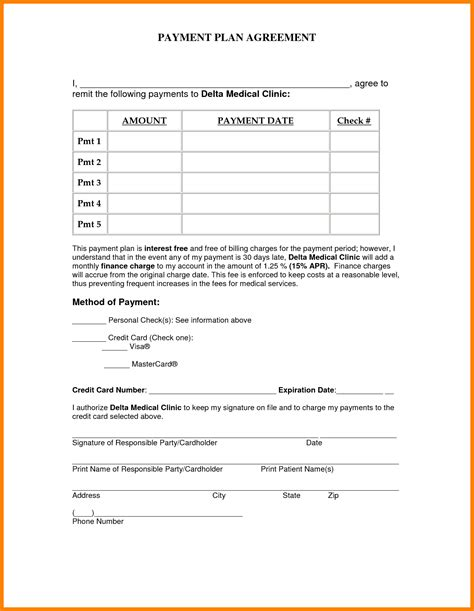 simple payment plan agreement template pay stub format