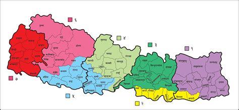 namaste nepal  map  nepal   state  map