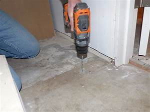 floor interesting drilling concrete floor and how to nail With nailing into concrete floor