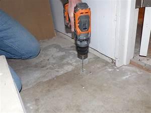 floor interesting drilling concrete floor and how to nail With how to nail into concrete floor