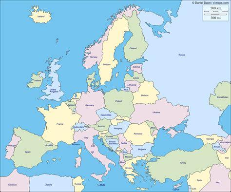 informacion  imagenes  mapas de europa fisico