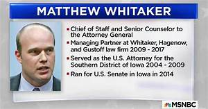 Who is Matthew Whitaker, who may oversee Russia probe?