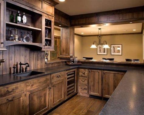 wood kitchen ideas 15 rustic kitchen designs black granite