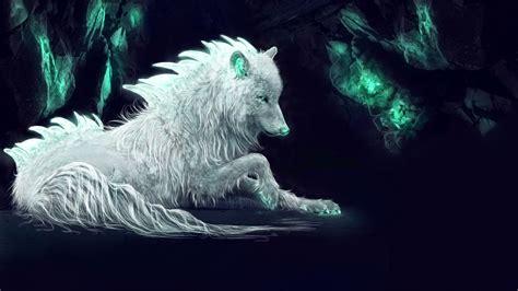 Wallpaper White Wolf, Arctic Wolf, Fantasy, Digital Art