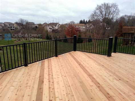 New Cedar Deck With Maintenance Free Railing  Des Moines