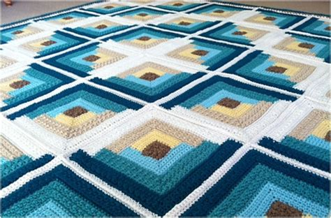 autumn log cabin crochet throw  pattern styles idea