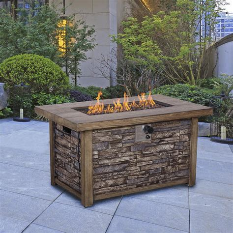 Backyard Propane Pit by Backyard Creations 174 Stackstone Propane Gas Pit Table