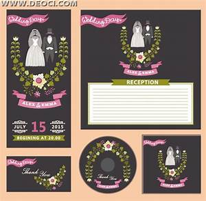 Wedding invitation card and CD cover design EPS downloads ...