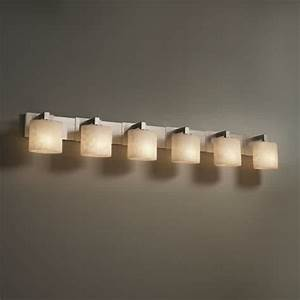 Fill your bathroom vanity with dramatic lights by for 6 lamp bathroom light fixture