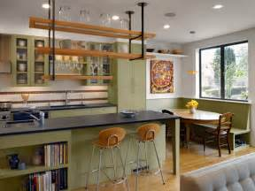 oval kitchen islands eclectic kitchen hanging shelves green facades oval table ideas for interior