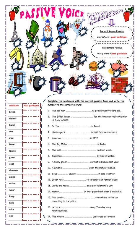 Present Simple And Past Simple Passive Voice  Interactive Worksheet