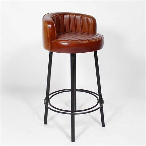 tabouret chaise de bar tabouret de bar style vintage américain des ées 50 assise en similicuir structure solide