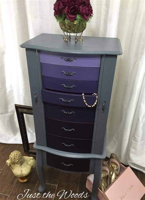 Painted Jewelry Armoire Just The Woods Llc Painted Ombre Jewelry Armoire