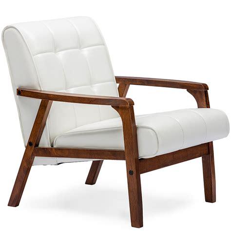 baxton studio mid century masterpieces club chair white