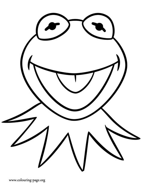 muppets kermit  frog coloring page