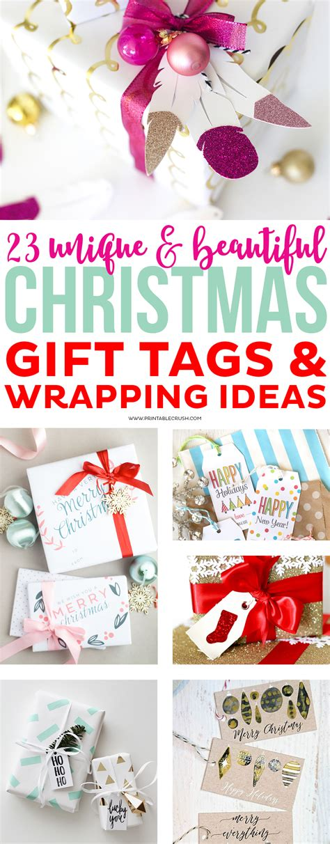 23 unique christmas gift tags and wrapping ideas