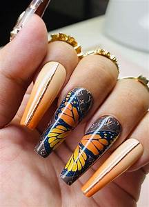 22 stunning fall nail ideas for autumn 2020 ombre orange