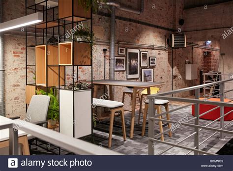 Four Types Of Industrial Style Decor by Interior Of A Modern Industrial Style Loft Office Stock