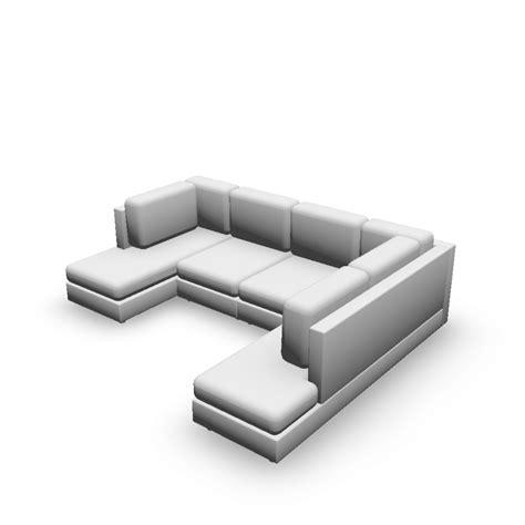 sofá em u u form couch einrichten planen in 3d