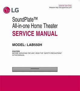 Lg Lab550h Soundplate System Original Service Manual And