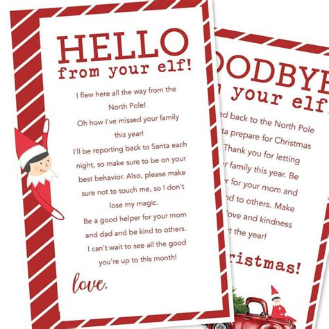 printable elf   shelf letters  heart naptime