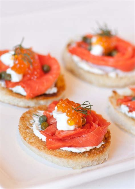 salmon canapes caviar smoked salmon canapes tatyanas everyday food