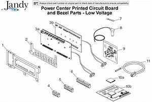 Jandy Power Center Printed Circuit Board And Bezel Parts