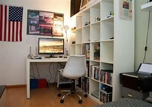 Schreibtisch An Der Wand : regale und schreibtisch richtig kombinieren und mehr platz gewinnen ~ Markanthonyermac.com Haus und Dekorationen
