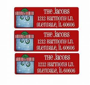 christmas address labels envelope seals return address With holiday address labels and seals