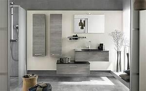 Meuble Salle De Bain Gris : le meuble colonne de salle de bain ~ Preciouscoupons.com Idées de Décoration