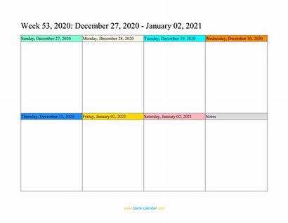 Calendar Weekly Printable Blank Pdf Calendars 2021