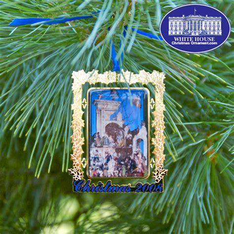 2008 secret service ornament the white house creche