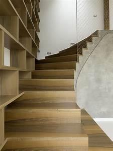 Escalier en bois contemporain for Escalier bois contemporain