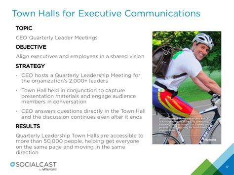 improving executive  employee engagement  town halls