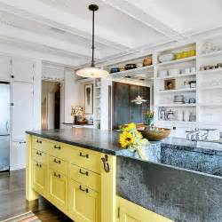 island style kitchen design yellow kitchen islands