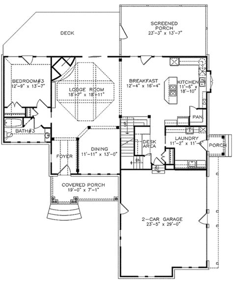 layout for small bedroom master with sleeping porch 15784ge architectural 15784 | 15784GE f1 1479195034