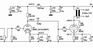 Wiring Schematic Diagram  Tube 6sn7  6h8c    6p3c 6 Watts