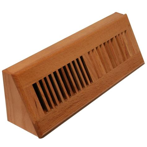3 3 4 in x 18 in wood louvered floor wall register