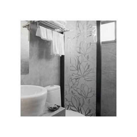 sticker paroi de douche motif fleur design