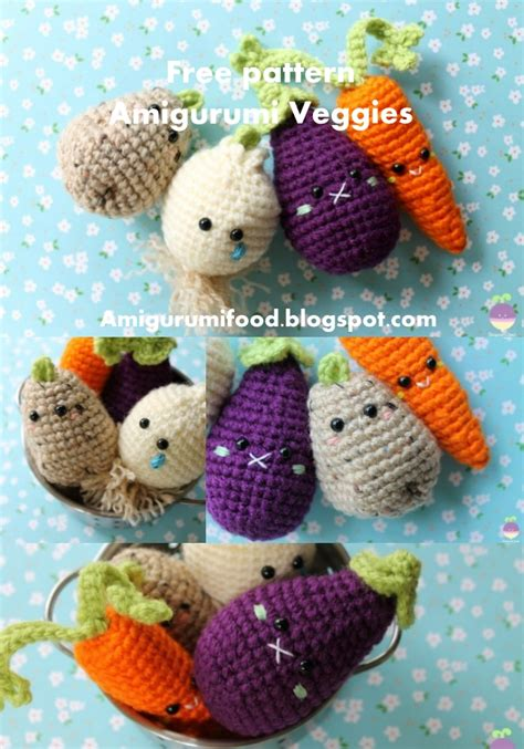 crochet cuisine amigurumi food veggies amigurumi food free crochet pattern
