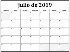 julio de 2019 calendario gratis Calendario de