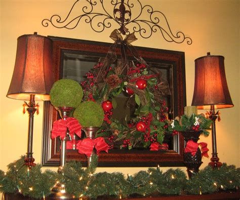 christmas mantle traditional dining room dc metro