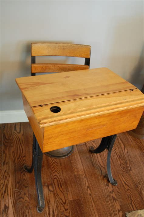 Vintage School Desk Top by Antique Cast Iron And Wood School Desk And Chair Lift