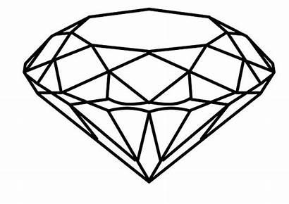Coloring Diamond Pages Shape Round Cut Gem