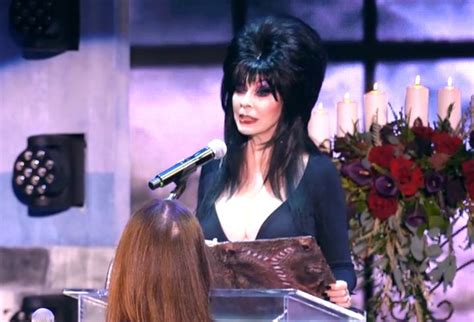 horror icon elvira marries boy  ghoul  huffington post