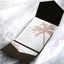 wedding invitations 1 tropical pocket wedding invitation sets ewpi005 as low as 1 69