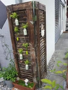 fensterladen deko fenster pinterest fensterladen With französischer balkon mit alte fensterläden im garten