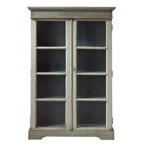 vitrine maison du monde vitrine en manguier gris perle l 90 cm st r 233 my maisons du monde