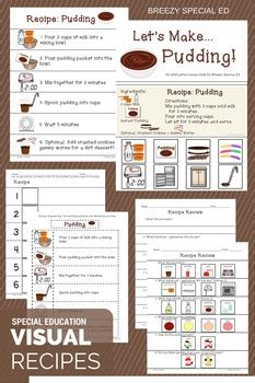 interactive cooking lessons visual recipes  pudding