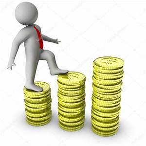 3d Andante Sobre Crecimiento De Monedas De D U00f3lar  U2014 Fotos